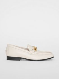 Burberry The Leather Link Loafer in Ash White