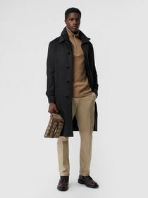 Burberry Wool Cashmere Car Coat with Detachable Gi