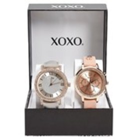 XOXO Womens Crystal Rose Gold Faux Leather & Silic