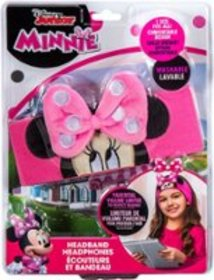 eKids - Minnie Mouse Headband Headphones - White/P