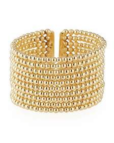 Kenneth Jay Lane Beaded 10-Row Cuff Bracelet Golde
