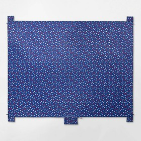 Americana Star Print Ground Covering Blue/Red - Su