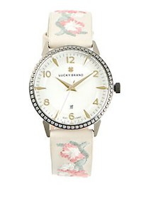 Lucky Brand Torrey Stainless Steel & Floral Embroi