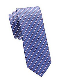 HUGO Striped Silk Tie BLUE