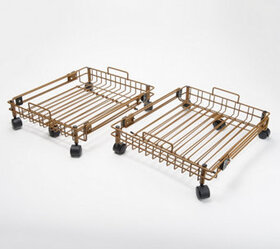 Set of 2 XL Expandable Storage Trays with Wheels a