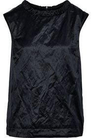 MAX MARA Tempera tie-back crinkled-sateen top