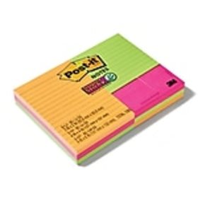 Post-it® Super Sticky Notes Combo Pack, Assorted S