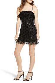 ROW A Sequin Dot Minidress