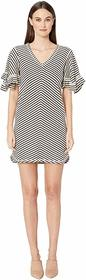 See by Chloe Stripped Jersey Dress