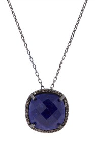 ADORNIA Lara Lapis Cushion Necklace