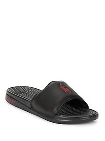 Polo Ralph Lauren Logo Slip-On Sandals BLACK