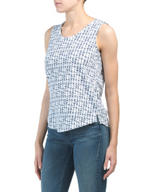 C&C CALIFORNIA Printed Tank With Side Slits