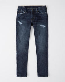 Ripped Skinny Jeans, RIPPED DARK WASH