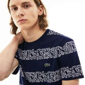 Lacoste Men's Keith Haring Print Cotton T-shirt