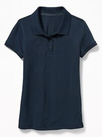 Uniform Moisture-Wicking Polo for Girls