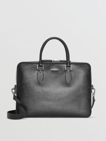 Burberry London Leather Briefcase in Black
