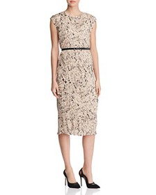 Max Mara - Rino Letter-Print Pleated Dress