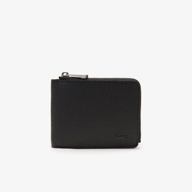 Lacoste Men's Chantaco Leather 3 Card Wallet