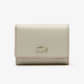 Lacoste Women's Chantaco Small Leather 4 Card Wall