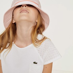 Lacoste Girls' Crew Neck Jersey T-shirt