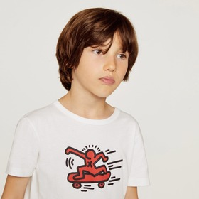 Lacoste Boys' Keith Haring Print Crew Neck Jersey