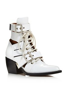 Chloé - Women's Rylee Cutout Pointed-Toe Booties