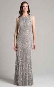 Lara Dresses - 33260 Sequined Jewel Column Dress