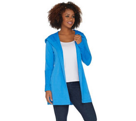 """""""As Is"""" Denim & Co. Active Regular Knit Cardigan w"""