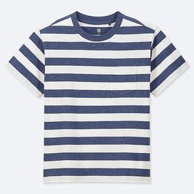 KIDS STRIPED CREW NECK SHORT-SLEEVE T-SHIRT