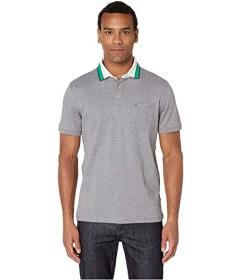 Calvin Klein Short Sleeve Jacquard Polo with Chest