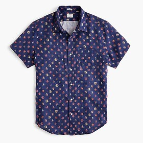 J. Crew Short-sleeve Albini Italian linen shirt in