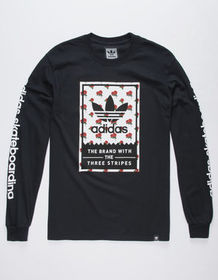ADIDAS Wallpaper Rose Mens T-Shirt_
