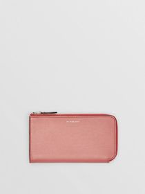 Burberry Two-tone Leather Ziparound Wallet and Coi