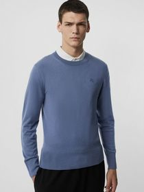 Burberry Crew Neck Cashmere Sweater in Airforce Bl