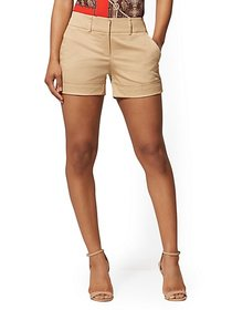 Khaki Structured 4 Inch Short - 7th Avenue - New Y