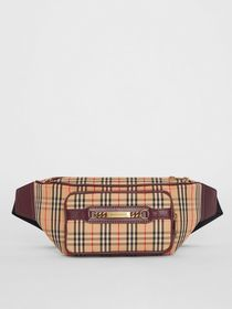 Burberry The Large 1983 Check Link Bum Bag in Oxbl