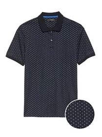 Slim Luxury-Touch Printed Polo
