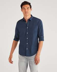 7 For All Mankind Commuter Shirt in Pigment Navy