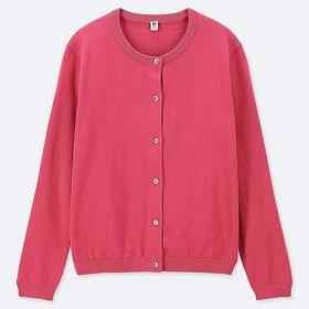 GIRLS UV CUT CREW NECK LONG-SLEEVE CARDIGAN