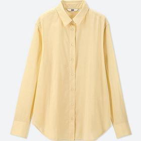WOMEN SOFT COTTON LONG-SLEEVE SHIRT