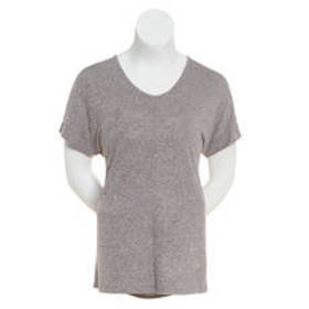 Premise Short Dolman Sleeve Hacci Tunic Top with P