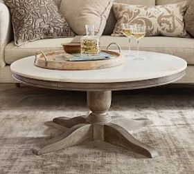 Pottery Barn Alexandra Marble Round Coffee Table