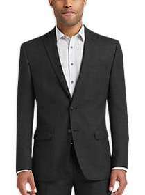Calvin Klein Charcoal Tic Modern Fit Suit