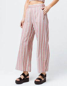ROXY Midnight Avenue Striped Womens Wide Leg Pants
