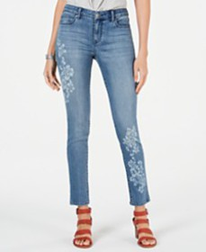 Style & Co Floral-Embellished Skinny Jeans, Create