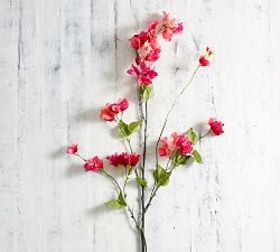 Pottery Barn Faux Pink Bougainvillea Branch