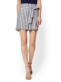 6 Inch Madie Short - Navy Stripe - 7th Avenue - Ne