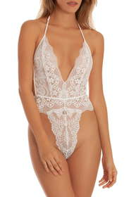 In Bloom by Jonquil Lace Thong Teddy