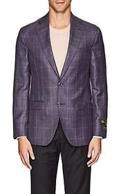 Jack Victor Plaid Wool-Blend Two-Button Sportcoat