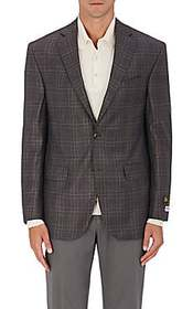Piattelli Plaid Worsted Wool Two-Button Sportcoat